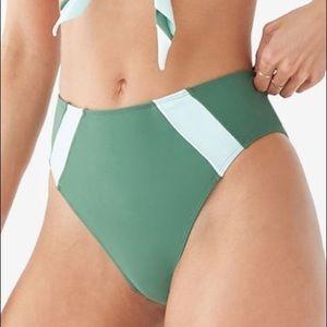 Forever 21 NWT L High Waist Contrast Bikini Bottom